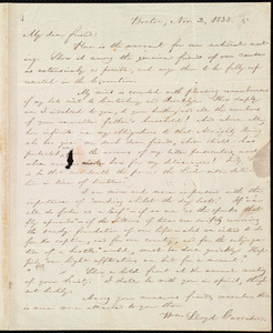 Letter from William Lloyd Garrison, Boston, [Mass.], to George William Benson, Nov. 2, 1833