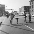 Demonstrators marching to protest police brutality and the all-white county personnel board in Mobile, Alabama.