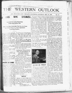 The Western Outlook (San Francisco and Oakland, Calif.), Vol. 34, No. 33, Ed. 1 Saturday, May 19, 1928 The Western Outlook