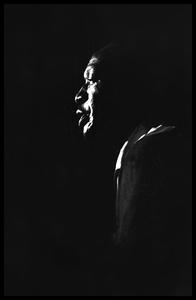 Josh White: high-contrast portrait in profile
