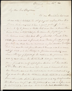 Letter from Mary Merrick Brooks, Concord, [Mass.], to Maria Weston Chapman, Jun[e] 16 / [18]44