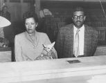 Billie Holiday arrested in Raid, pictured with husband.