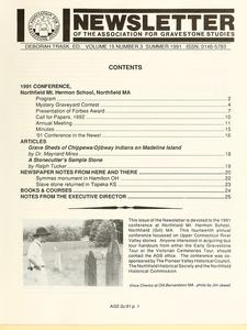 Newsletter of the Association for Gravestone Studies. Vol. 15, no. 3