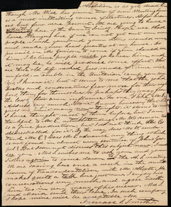 Partial letter from Increase S. Smith, [Hingham, Mass.], to Caroline Weston, Oct. 22, [1838]