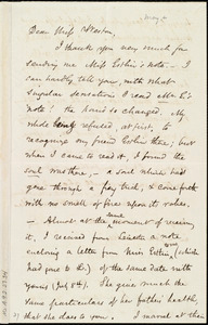 Letter from Samuel May to Miss Weston, [26 July 1853?]