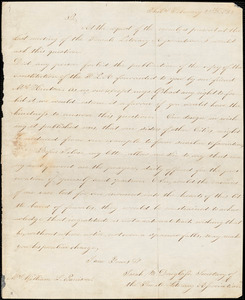 Letter from Female Literary Association, Phila[delphia, Pennsylvania], to William Lloyd Garrison, 1832 February 29th