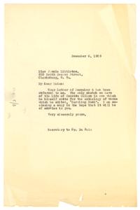 Letter from unidentified correspondent to Jennie Littleton
