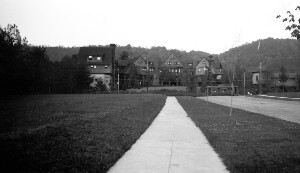 Unidentified view of houses.