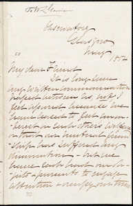 Letter from John Pringle Nichol, Glasgow, [Scotland], to William Lloyd Garrison, May 1854