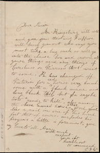 Letter from Emma Forbes Weston to Lucia Weston and Elizabeth Bates Chapman Laugel, [1837-1838?]