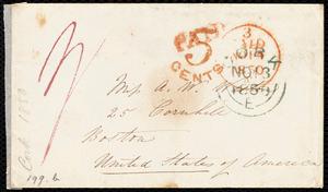 Letter from Isabel Jennings, [Cork, Ireland], to Anne Warren Weston, November [1850]