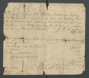 [Record of payment from Michael Reed for the imprisonment of a runaway slave named Edmond] Michael Reed Papers