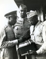 Three African American soldiers during World War II