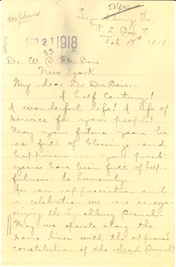 Letter from Mary Rice Hayes-Allen to W. E. B. Du Bois