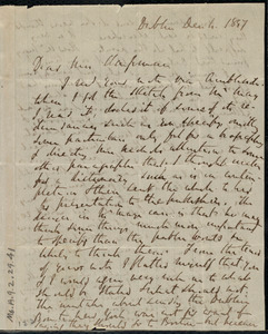 Letter from Richard Davis Webb, Dublin, [Ireland], to Maria Weston Chapman, Dec. 4, 1857
