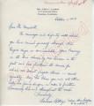 Barbar Lathrop to Mr. Meredith (1 October 1962)