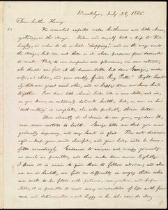 Letter from William Lloyd Garrison, Brooklyn, [Conn.], to Henry Egbert Benson, July 28, 1836