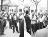 Images of a demonstration in Eutaw, Alabama.