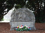 Grave of Booker T. Washington located at Tuskegee University, Tuskegee, Alabama
