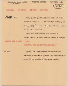 News Script: Fugitives captured NBC News Scripts