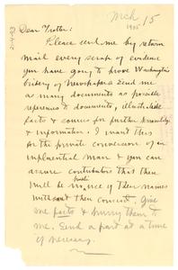 Letter from W. E. B. Du Bois to William Monroe Trottter