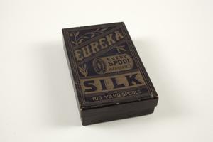Box for Eureka Silk 100 yard spools of thread, Seavey, Foster & Bowman, location unknown, undated