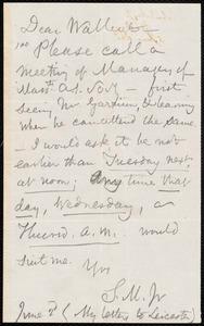 Letter from Samuel May, Jr., Leicester, [Mass.], to Roger Folder Wallcut, June 2d [1865]