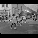 Majorettes leading parade