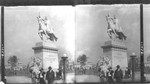 "Allegorical group ""The Apotheosis of St. Louis"" and Equestrian Statue of St. Louis. Louisiana Purchase Exposition"