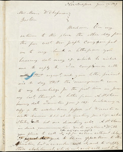 Letter from Rodney French, New Bedford, [Massachusetts], to Maria Weston Chapman, 1839 June 17