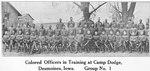 Colored officers in training at Camp Dodge, Desmoines, Iowa; Group No. 1