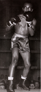 Unidentified boxer in ring