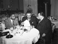 Guinyard, Fred; Secretary To Joe Louis. With Joe Louis & Harry Mendel.