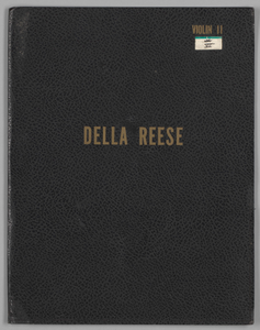 Music folder owned by Della Reese