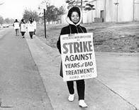 African American employees of Ottenheimer on strike for poor treatment