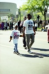 Father and Son Walking at Million Man March