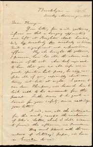 Letter from William Lloyd Garrison, Brooklyn, [Conn.], to Henry Egbert Benson, Tuesday Morning, [Sept. 15,] 1835