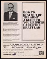 Handbill. Hear Conrad Lynn