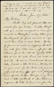 Letter from William Lloyd Garrison, Boston, [Mass.], to Fanny Garrison Villard, Jan. 27, 1865