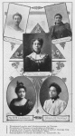 Portraits of women; 1. Prominent leader and kindergartner in Chicago; 2. President of Woman's Conference in Chicago; 3. Leading club woman and Highschool teacher, Kansas City; 4. A prominent leader in Worcester, Mass.; 5. Stenographer of Garnet Transfer Co., Louisville, Ky