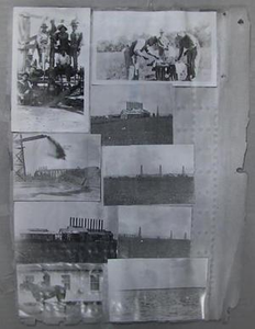 Negative of a collage consisting of nine different pictures