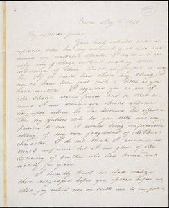 Letter from Mary Gray Chapman, Boston, [Massachusetts], to William Lloyd Garrison, 1840 May 3rd