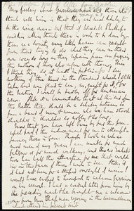 Part of a letter from Richard Davis Webb, [Dublin, Ireland], to Anne Warren Weston, [1867 May 23?]