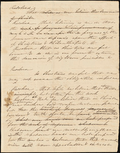 Letter from Sarah Moore Grimkè