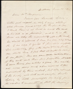 Letter from Edmund Quincy, Dedham, [Mass.], to Maria Weston Chapman, June 16, 1846