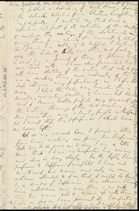 Partial letter from Richard Davis Webb, [Orangehill, Tandragee, County of Armagh, Northern Ireland], to Caroline Weston, [28 March 1852?]