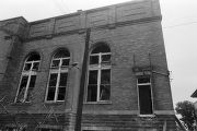 Windows blown out during the bombing of 16th Street Baptist Church in Birmingham, Alabama.