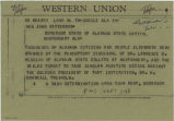 Telegram from members of the Non-Partisan Voters League in Mobile, Alabama, to Governor John Patterson in Montgomery, Alabama.
