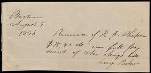 Letter from Anne Warren Weston, New Bedford, to Maria Weston Chapman, August 1, 1836