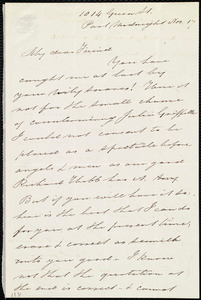 Letter from Sarah Pugh, 1014 Green St., [Philadelphia, Penn.], to Maria Weston Chapman, Past midnight, Nov. 17, [1857]